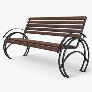 bench pbr 3D model