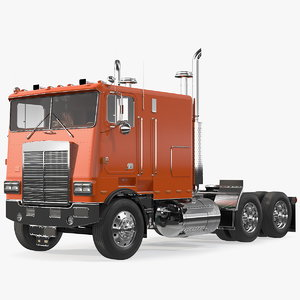 3D model cabover truck vehicle cab