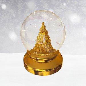 gift snow 3D model