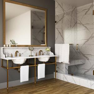 bathroom sink furniture 3D
