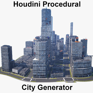 houdini city generator model