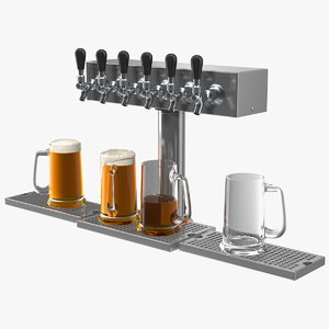 t style pedestal draft beer 3D model