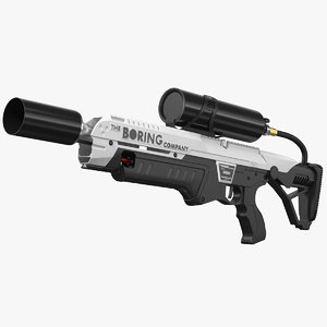 boring company flamethrower 3D