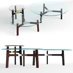 v-ray table porto glass 3D model