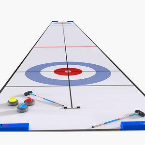 3D curling sport