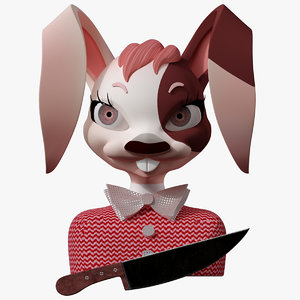 3D model bunny casual cartoon