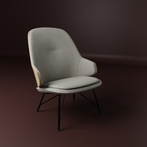 3D chair furnishing furniture