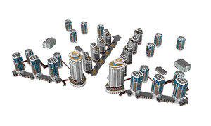 urban residential buildings 4 model