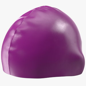 waterproof silicone swim cap 3D model