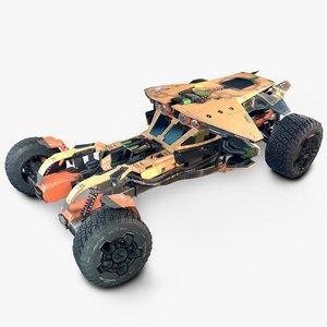 3D racing car futuristic vehicle