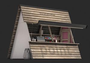 3D coffee shop kiosk
