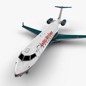3D model west express bombardier crj