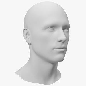 3D model male mannequin head man
