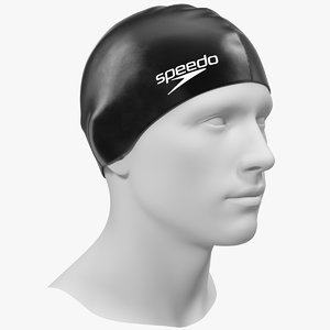 3D speedo black silicone swimming
