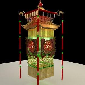 chinese palace lantern model