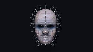 pinhead mask - halloween 3D