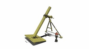 3D ww1 mortar model