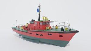 pilot boat 3D