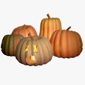 halloween jackolantern pumpkins 3D model