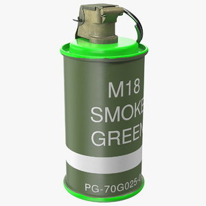 3D m18 colored smoke grenade