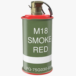 m18 colored smoke grenade 3D