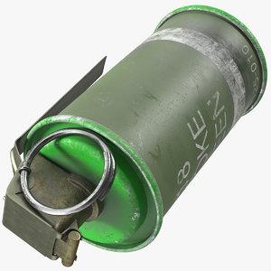 3D m18 smoke grenade green