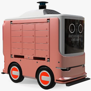 3D model unmanned ground vehicle delivery