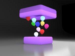 3D balloon