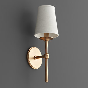 3D sconce candle classic model