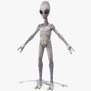 humanoid alien creature 3D model
