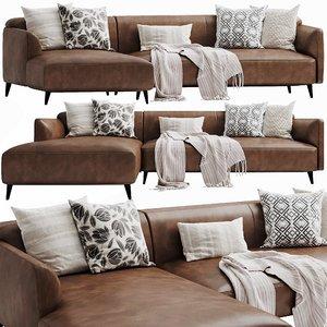 boconcept modena chaise lounge 3D model