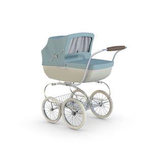 renders stroller baby 3D model