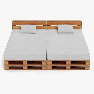 3D pallet bed