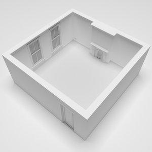 3D blank room 5m x