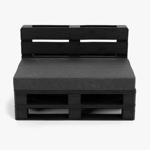 3D pallet chair black model