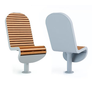 galvanized steel swivel chair 3D model