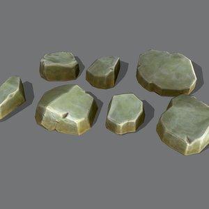 3D model format rock stone
