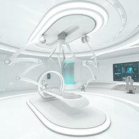 Sci-Fi Laboratory Interior Room