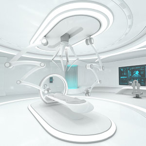 sci-fi laboratory interior room 3D model