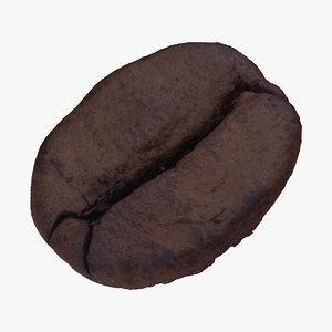 3D coffee bean 01 raw model