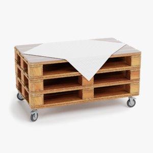 3D model pallet table