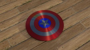 3D america shield captain