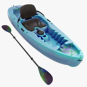 3D kayaking boat