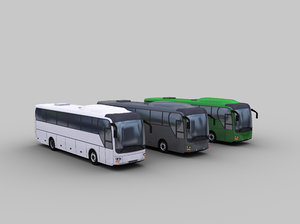 Low Poly Coach Bus