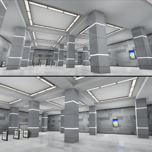 subway stations packs 3D