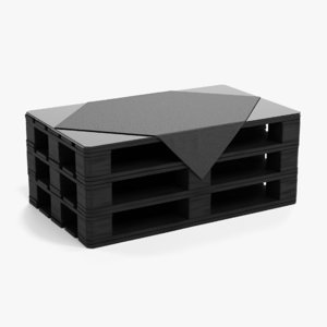 pallet table black model