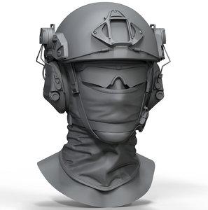 ops core fast ballistic 3D model