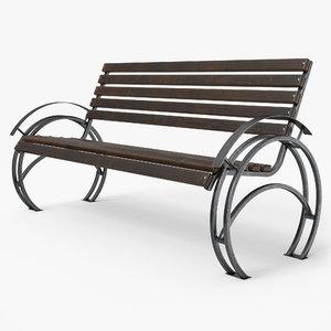 bench pbr model
