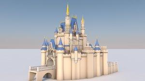 3D cinderella castle la model