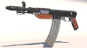 gun weapon rifle 3D model